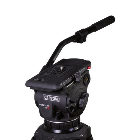 Cartoni HF1200 Focus 12 Focus Head with Quick Release Plate, with Pan Bar, 0-26lbs  HF1200