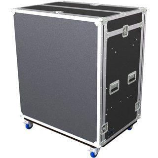 Grundorf Corp T8-COMBO-D18C Tour 8 Series Double 18RU Combo Case with Casters, Black T8-COMBO-D18CB