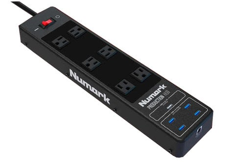 Numark PRODUCTION-HUB  Professional Surge-Protecting Power Strip And 4-Port USB 3.0 HUB PRODUCTION-HUB