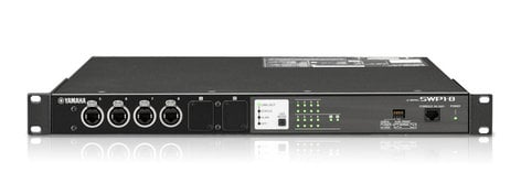 Yamaha SWP1-8 Switcher, 8 Ethercon Ports, 2 Option Slots SWP1-8