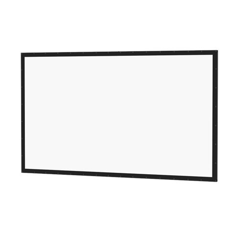 "Da-Lite Perm-Wall Projection Screen Dual Vision 49"" x 87"" HD Screen 95585"