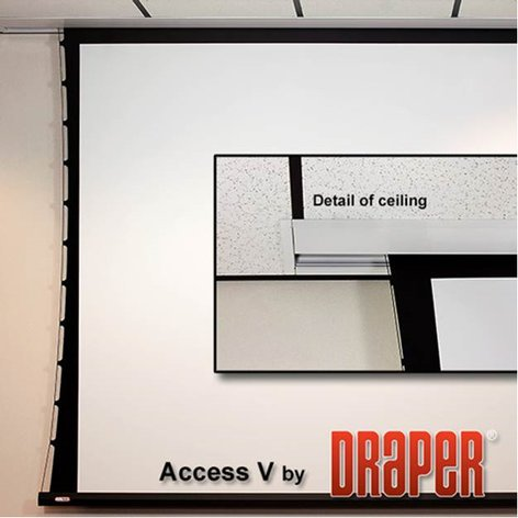 "Draper Shade and Screen 140038FNL Pire White 123"" Access FIT/Series V Electric Projection Screen 140038FNL"