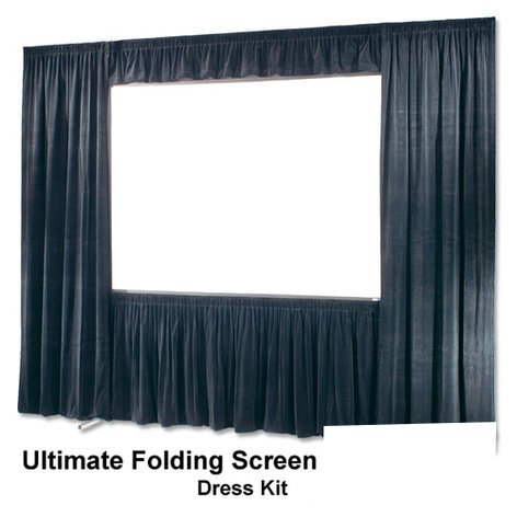 Draper Shade and Screen 242018 Black Velour Dress Kit for Folding Screen 242018