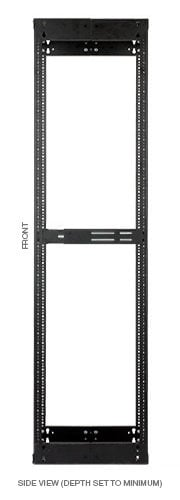 "Lowell VARI-RACK LVR Series Adjustable A/V Rack, 22RU, 14-21"" LVR22-1421"