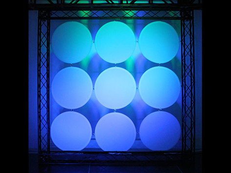 Odyssey SWDC22WHTX9 Scrim Werks Circular Decor Panel Display Set Package SWDC22WHTX9
