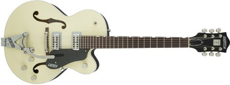 Gretsch Guitars G6118T-LIV Players Edition Anniversary Hollow Body HH Electric Guitar in Lotus Ivory with String-Thru Bigsby G6118T-LIV