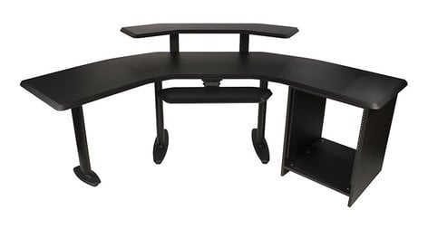 """Ultimate Support NUC-003 Studio Desk with 24"""" Extenstion 12RU , 2ndTier, and Keyboard tray NUC-003"""