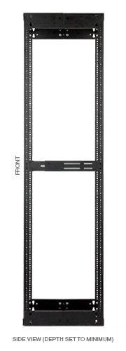 "Lowell VARI-RACK LVR Series Adjustable A/V Rack, 38RU, 17.5""-21"" LVR-38-1421"
