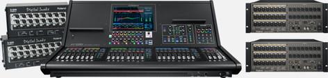 Roland System Group M5000-22416EX Digital Mixing System, 96 x 64 M5000-22416EX