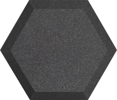 """Ultimate Acoustics UA-HX-12CH 12"""" Hex Series Hexagonal Foam Wall Panel in Charcoal Without Vinyl Covering UA-HX-12CH"""