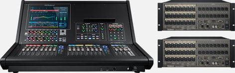 Roland M5000C-22416 Digital Mixing System, With 64 Digital Inputs and 40 Digital Outputs M5000C-22416