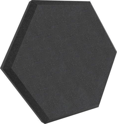 """Ultimate Acoustics UA-HX-24CH 24"""" Hex Series Hexagonal Foam Wall Panel in Charcoal Without Vinyl Covering UA-HX-24CH"""