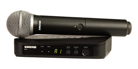 Shure BLX24/PG58-H10  Handheld Wireless System With PG58 Handheld Microphone And H10 Frequency BLX24/PG58-H10