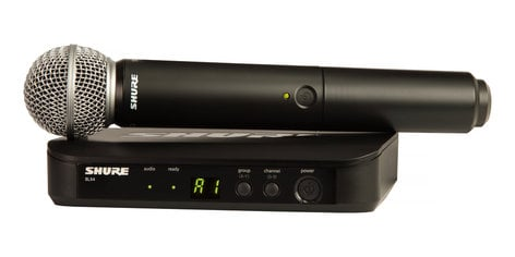 Shure BLX24/SM58-H10  Handheld Wireless System With SM58 Handheld Microphone And 542 - 572 MHz BLX24/SM58-H10