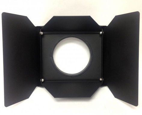 AADYN TECHNOLOGY, LLC JR-BD-001 Lightweight 4 Leaf Barndoor Set for Hurricane Jr. in Black JR-BD-001