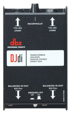 DBX DJDI 2-Channel Passive Direct Box That Converts Unbalanced Signal DJDI