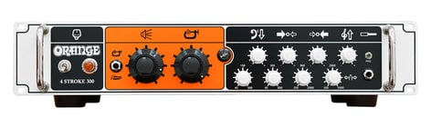 Orange Amplification 4 Stroke 300 300 Watt Solid State Bass Amplifier Head, Rackmountable 4STROKE-300