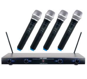 VocoPro VHF-4000-VOCO  Professional Quad VHF Wireless Microphone System VHF-4000-VOCO
