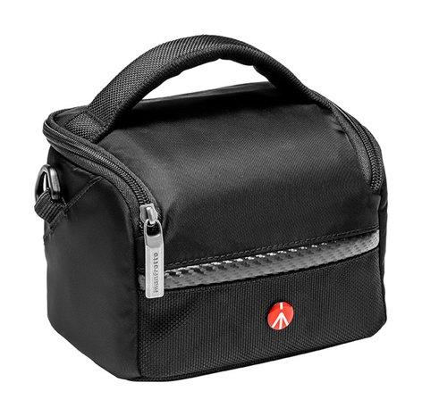 Manfrotto Advanced Active Shoulder Bag 1 Black Nylon Shoulder Bag for Mirrorless Camera and 2 Lenses MB-MA-SB-A1