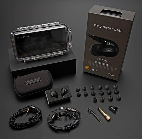 Optoma HEM8 NuForce Series Quad Balanced Armature Driver In-Ear Headphones HEM8