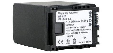 Empire Scientific BLI-448-2.8 Canon BP828 Li-Ion Replacement Battery BLI448-2.8