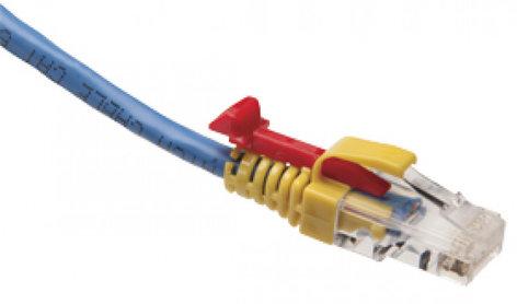 Platinum Tools 105035 EZ-Datalock Strain Relief 100-Pack of Blue EZ-RJ45 Locking Strain Reliefs for Cat5e 105035
