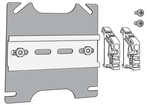 ETC/Elec Theatre Controls ECHO-DIN  Echo Low-Voltage DIN-Rail Cover Kit ECHO-DIN