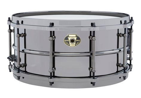 "Ludwig Drums Black Magic Chrome 6.5""x14"" Brass Shell Snare with Black Nickel over Brass Finish, Chrome Hardware LW6514C"