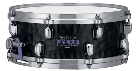 """Tama MP1455ST 5""""x14"""" Mike Portnoy Hammered Flat Black Signature Snare Drum MP1455ST"""