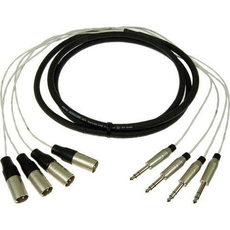 """Pro Co MT4BQXM-50 50 ft 4-Channel 1/4"""" TRS-M Fan to XLR-M Fan Studio Patch Snake MT4BQXM-50"""