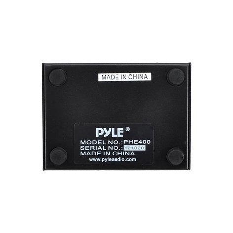 Pyle Pro PHE400  Hum And Noise Eliminator, 2-Channel Box With XLR Jacks PHE400