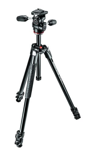 Manfrotto MK290XTA3-3WUS  290 Xtra Tripod 3-Way Head Kit  MK290XTA3-3WUS