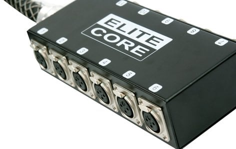 Elite Core Audio PS12030  30 ft 12-Channel Fan to Box Stage Snake with No Returns PS12030