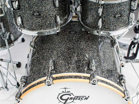 Gretsch Drums Renown 4-Piece 7-Ply Maple Shell Pack with Blue Metal Finish RN2-E8246
