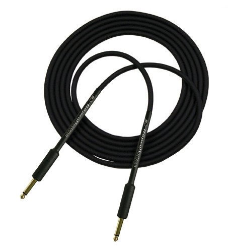 "RapcoHorizon Music G5S Guitar Cable 1.5 ft Guitar Cable with Right Angle 1/4"" Connectors on Both Ends, Black G5S-1-1/2RR-I"