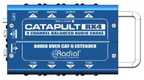 Radial Engineering CATAPULT-RX4 4-Channel Receiver With Balanced Outputs CATAPULT-RX4