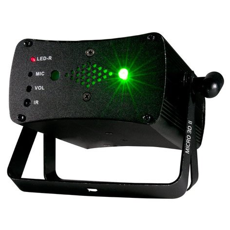 ADJ MICRO-3D-II Red & Green Laser Beams with IR Control MICRO-3D-II
