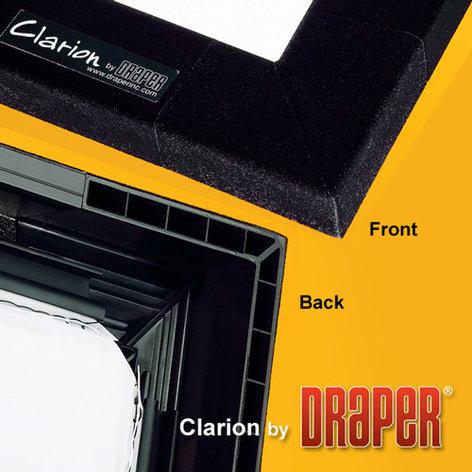 "Draper 252195 ClarionFixedProjectionScreen 123"" 16:10 Matt White XT1000V Projection Screen 252195"