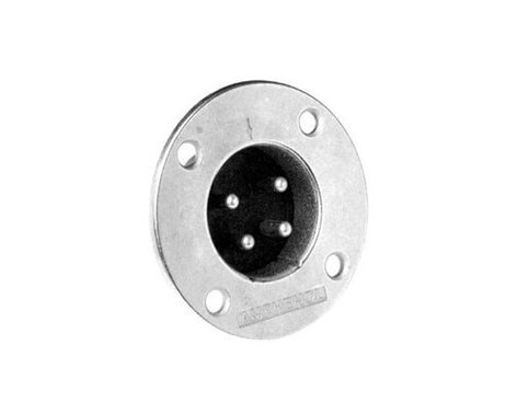Amphenol EP-4-14 4-Pin XLR Male Metal Panel Mount Connector EP-4-14