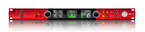 Focusrite Pro Red 4Pre 58 In / 64 Out Thunderbolt 2 Audio Interface, Dante Network Audio Connectivity RED-4PRE