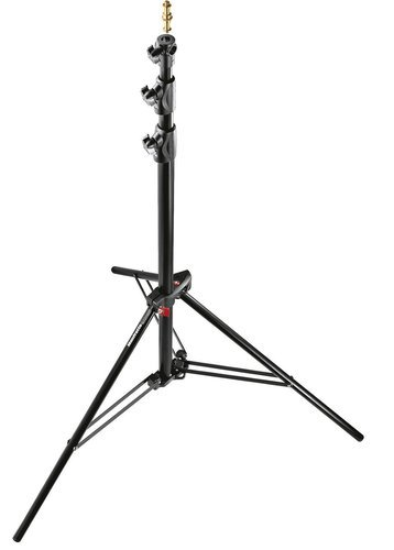 Manfrotto Black Alu Ranker Stand Air Cushioned 9 ft. Lighting Stand with 3 Sections and 2 Risers 1005BAC