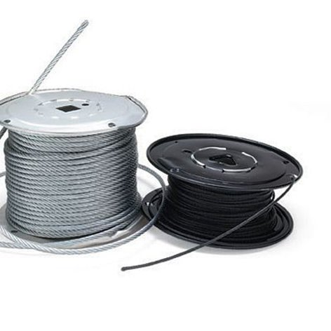 """Rose Brand HWCA0004 Aircraft Cable 500 ft. Spool of Powder Coated Black 1/16"""" Cable HWCA0004"""