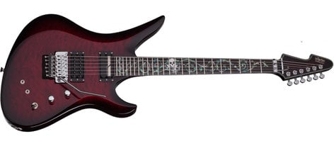 Schecter Guitars Nikki Stringfield A-6 FR S Electric Guitar, Bright Red Burst Signature N-STRINGFIELD-BRB