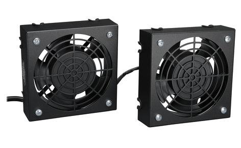 Tripp Lite SmartRack Wall-Mount Roof Fan Kit with 2 120V High-Performance Fans SRFANWM