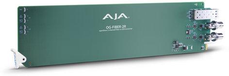 AJA Video Systems Inc OG-FIBER-2R 2-Channel openGear Fiber to 3G-SDI Converter OG-FIBER-2R