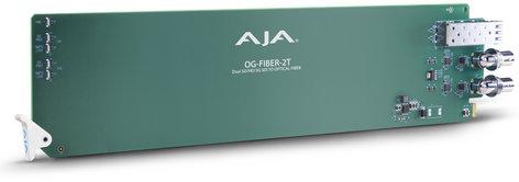 AJA Video Systems Inc OG-FIBER-2T  2-Channel openGear SDI to Fiber Converter OG-FIBER-2T