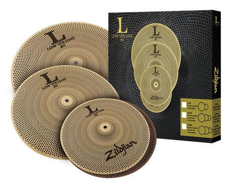 """Zildjian LV468 L80 Low Volume Cymbal Set with 14"""" HiHat Pair, 16"""" Crash, 18"""" Crash Ride LV468"""