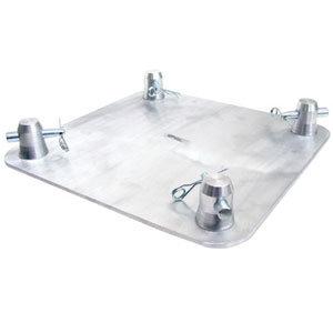 "Global Truss SQ4187-BLK 16.5"" x 16.5"" Aluminum Base Plate with Black Custom Coating SQ4187-BLK"