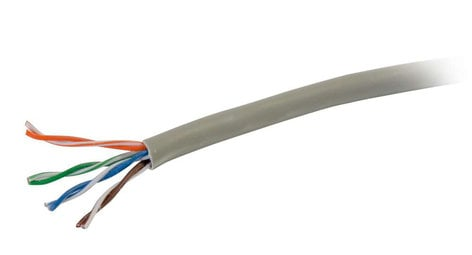 Cables To Go CAT6 Bulk Unshielded (UTP) 1000 ft Ethernet Network Cable with Solid Conductors, Grey 56020