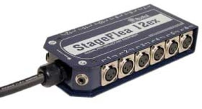 """Radial Engineering StageFlea 12 x 4 Stage Snake With 1/4"""" TRS Connectors, 25 Ft, PVS Reinforced R488-1210-00"""
